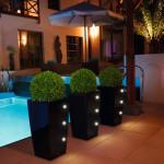 Pflanzgefäße auch mit LED in Frankfurt Firma: Gruener Leben