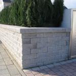 Gartenmauer Stackwall 20 Sys. in einem Frankfurter Garten